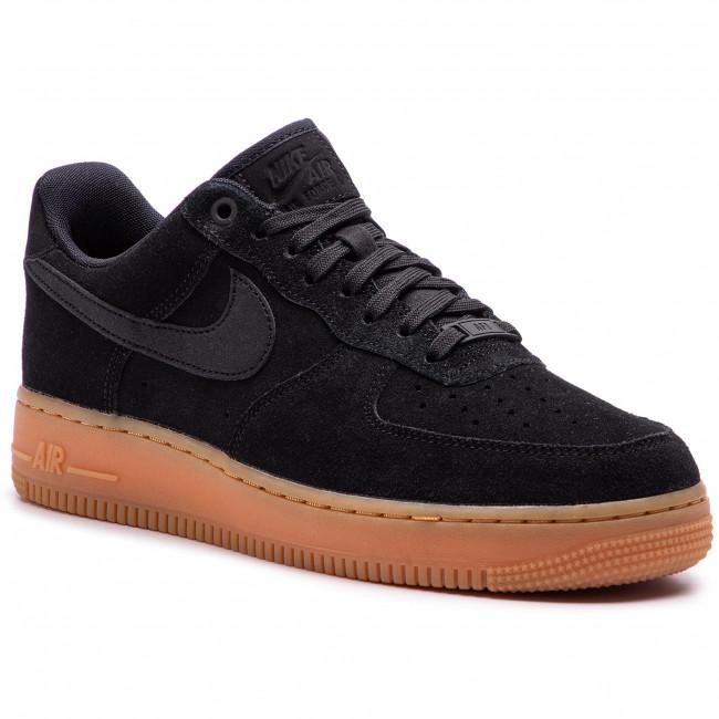 Shoes NIKE Air Force 1 '07 Lv8 Suede AA1117 001 BlackBlackGum Med Brown