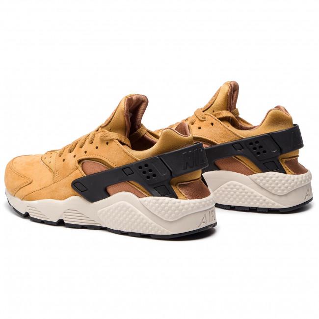 Shoes NIKE Air Huarache Run Prm 704830 700 WheatBlackLight Bone