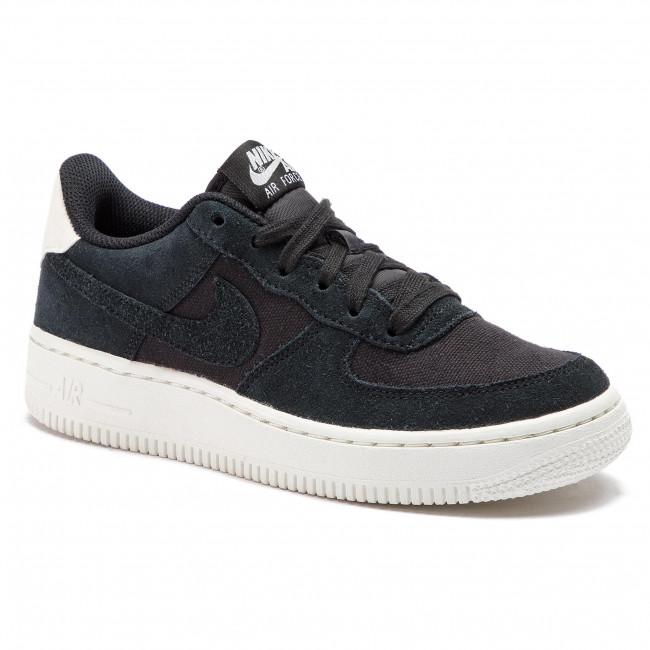 Shoes NIKE Air Force 1 Suede (GS) AR0265 001 BlackBlackSail