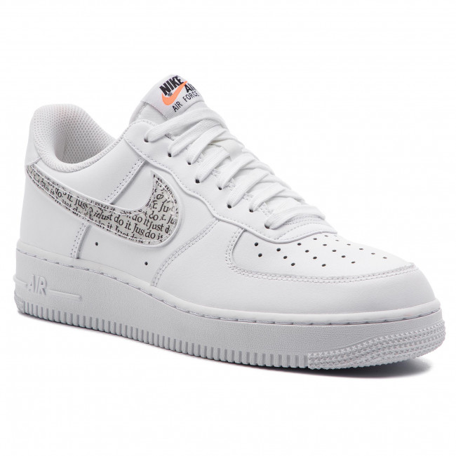 Shoes NIKE Air Force 1 '07 Lv8 Jdi Lntc BQ5361 100 WhiteWhiteBlackTotal Orange