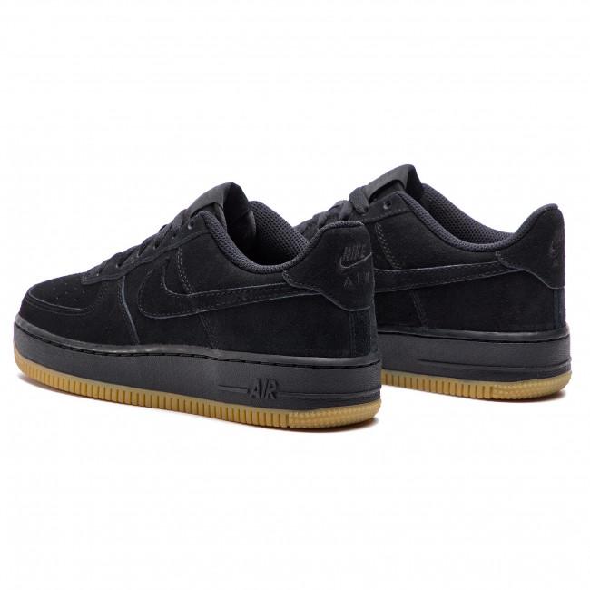buty sportowe rozmiar 7 najlepszy dostawca Shoes NIKE - Air Force 1 Prm (GS) AR0042 001 Black/Black/Gum Light Brown