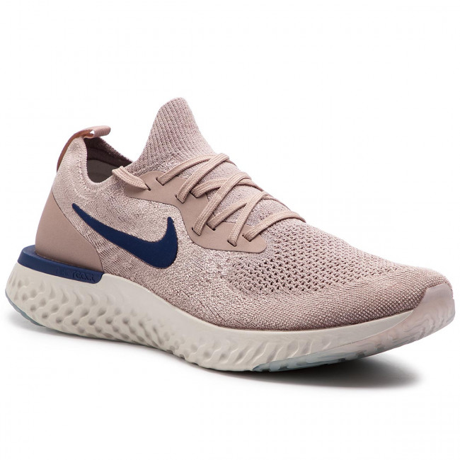 Shoes NIKE Epic React Flyknit AQ0067 201 Diffused TaupeBlue Void