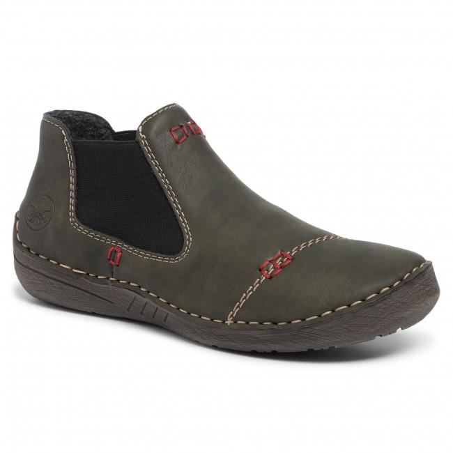 Ankle Boots RIEKER 52590 54 Grün Elastic sides High