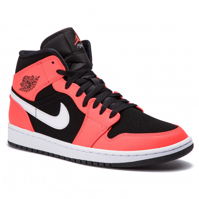 innovative design 015ea 14769 Shoes NIKE - Air Jordan 1 Mid 554724 061 Black Infrared 23 White - Sneakers  - Low shoes - Men s shoes - efootwear.eu