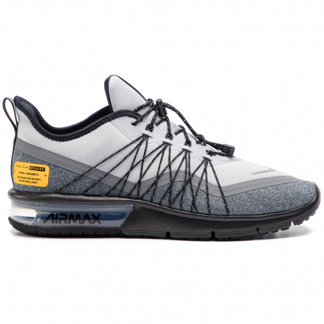 Shoes NIKE Air Max Sequent 4 Utility AV3236 003 Wolf GreyReflect Silver