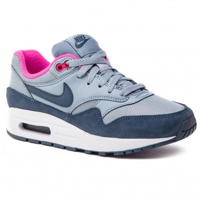 Shoes NIKE Air Max 1 (GS) 807605 400 Obsidian MistMonsoon Blue