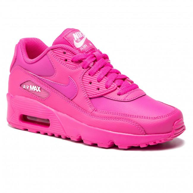 Shoes NIKE Air Max 90 Ltr (GS) 833376 603 Laser FuchsiaLaser Fuchsia