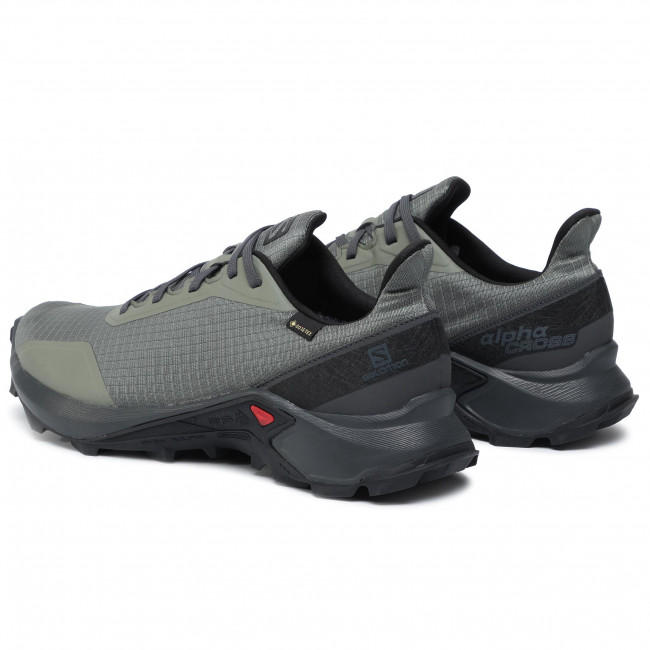 Shoes SALOMON Alphacross Gtx GORE TEX 408055 31 V0 Castor GrayEbonyBlack