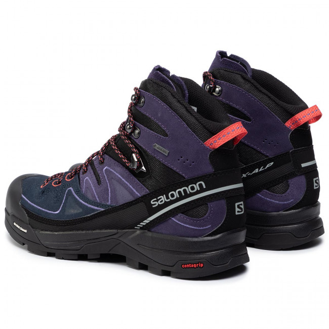 Shoes SALOMON X Alp Mid Ltr Gtx W GORE TEX 391947 26 V0 BlackNightshade GreyCoral Punch