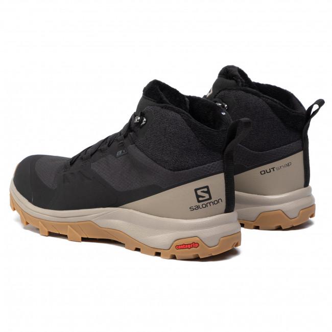 Shoes SALOMON OUTsnap CSWP W 409221 BlackVintage KakiGum1a X8c84