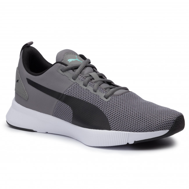 PUMA Flyer Runner Mesh Charcoal Gray White Lace Up Fashion Sneakers Men Shoes