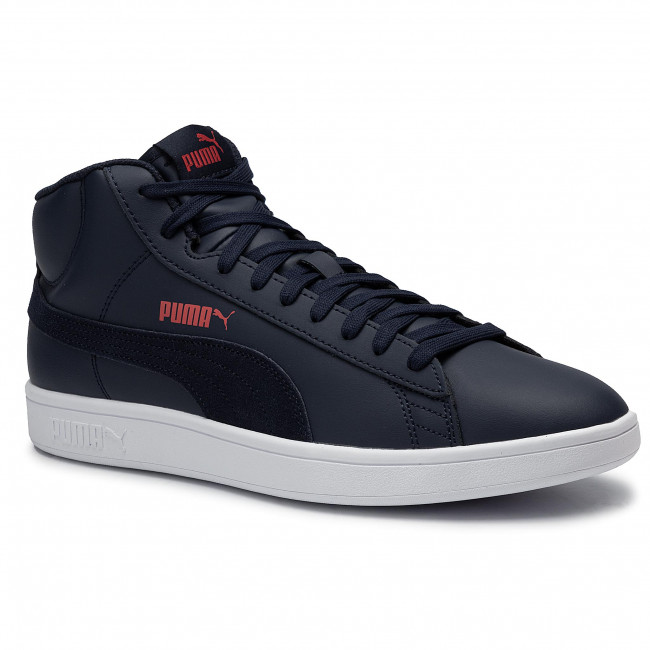 Sneakers PUMA Smash v2 Mid L 366924 03 PeacoatHigh Risk RedWhite