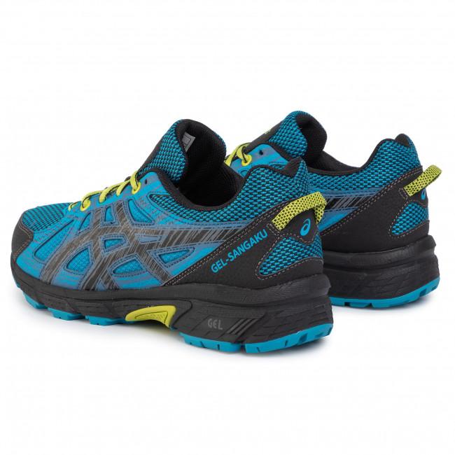 Shoes ASICS Gel Sangaku T72QQ Island BlueNeon Lime 400