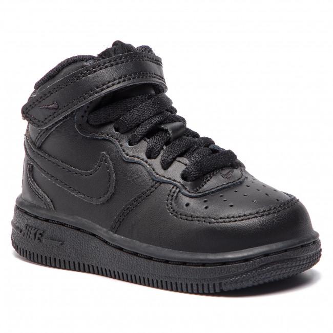 Shoes NIKE - Force 1 Mid (Td)  314197 004 Black/Black