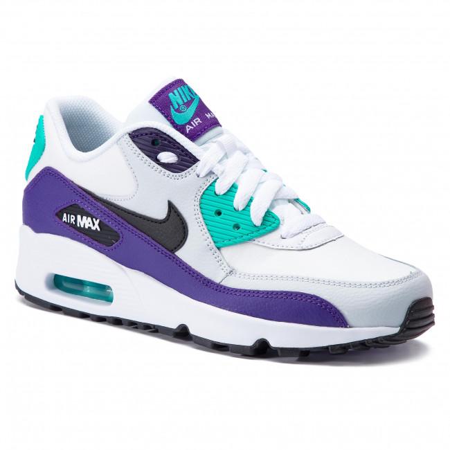1aaaf46a427d8 Shoes NIKE - Air Max 90 Ltr (GS) 833412 115 White/Black/Hyper Jade