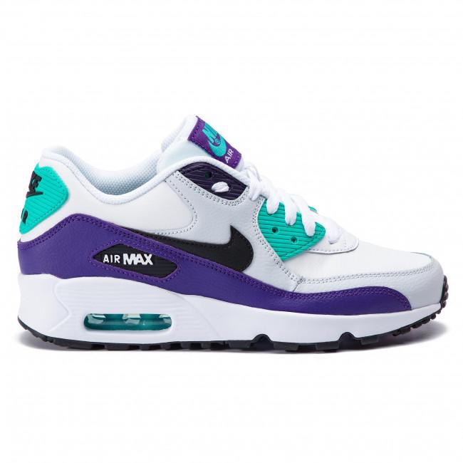 Shoes NIKE Air Max 90 Ltr (GS) 833412 115 WhiteBlackHyper Jade