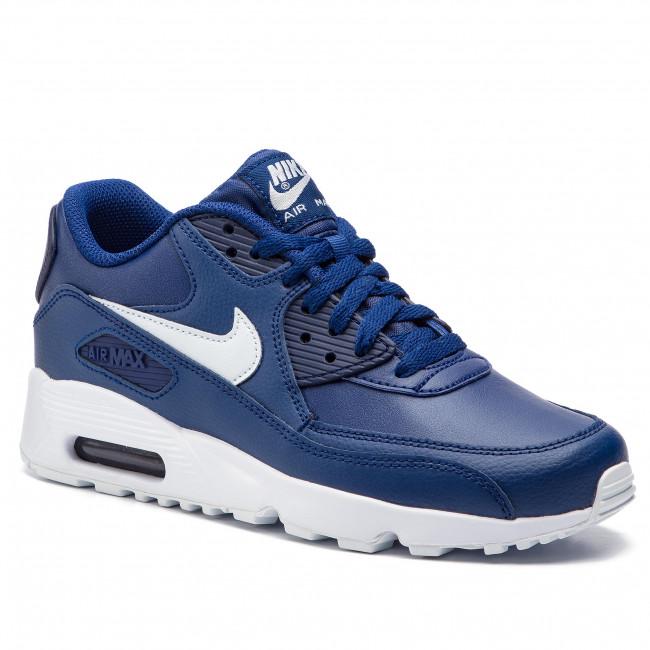 Shoes NIKE - Air Max 90 Ltr (GS) 833412 411 Blue Void/Pure Platinum/White