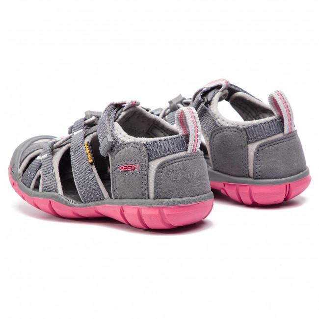 KEEN SEACAMP II CNX 1020682 STEEL GREY//RAPTURE ROSE CHILDREN SANDALS