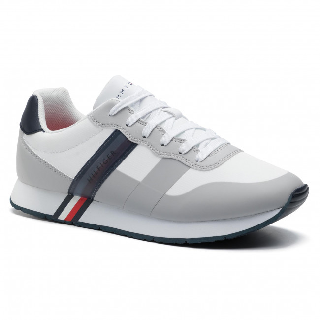 Sneakers TOMMY HILFIGER City Modern Material Mix Runner FM0FM02283 White 100