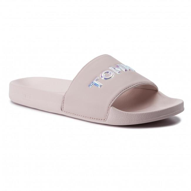 Tommy Hilfiger Iridescent Detail Pool Womens Midnight Navy Slide Sandals