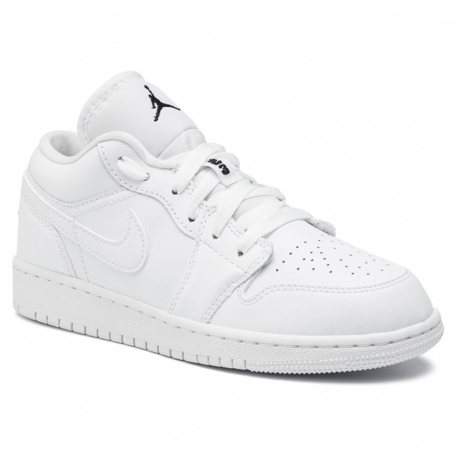 Shoes Nike Air Jordan 1 Low Gs 553560 101 White Black White Sneakers Low Shoes Women S Shoes Efootwear Eu