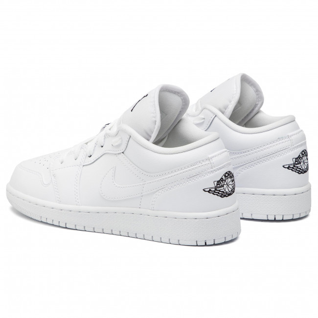 super popular f8711 c69e1 Shoes NIKE - Air Jordan 1 Low (GS) 553560 101 White/Black/White