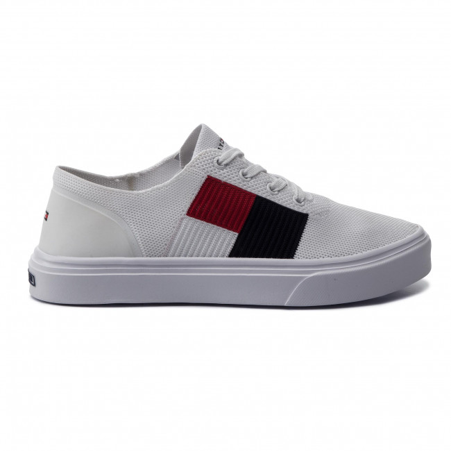 Sneakers TOMMY HILFIGER Lightweight Knit Flag Sneaker FM0FM02545 White YBS