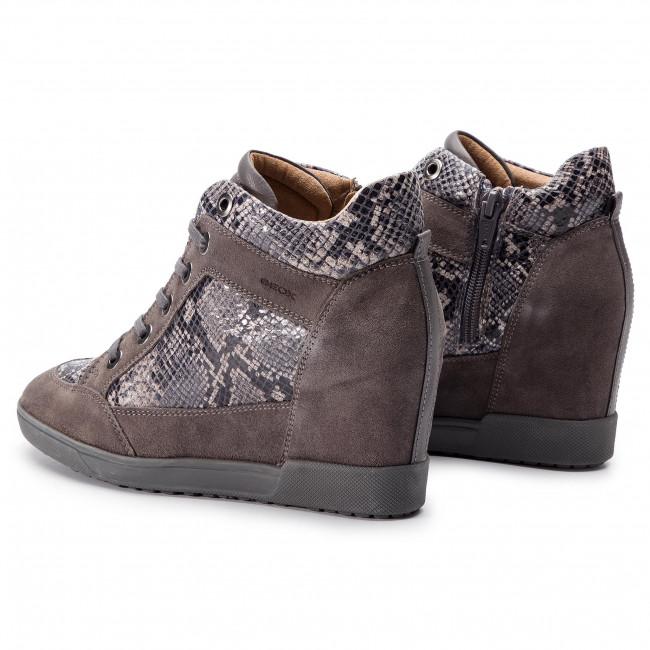 Sneakers GEOX D Carum C D84ASC 02241 C9002 Dk Grey PY1HJ