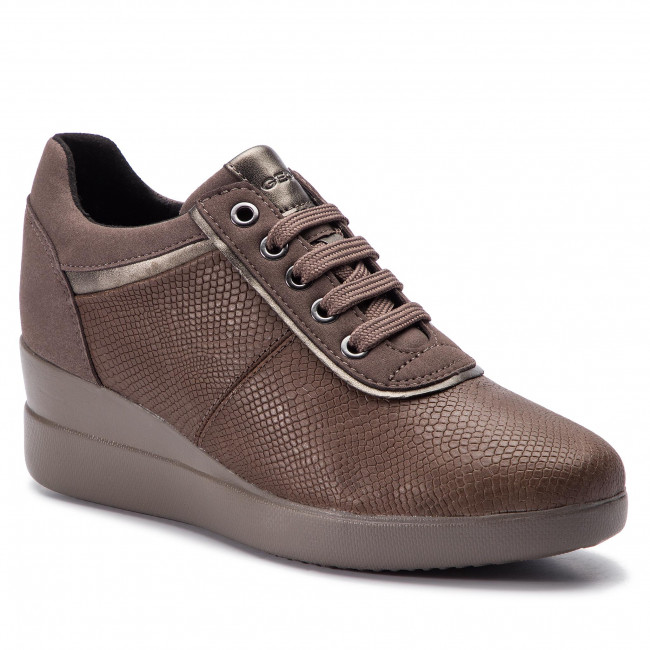 Sneakers GEOX D Stardust A D8430A 09DAF C6132 ChestnutTaupe