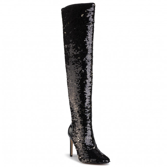 Over-Knee Boots GUESS - Teodare FL8TEE SAT11 BLACK/GOLD