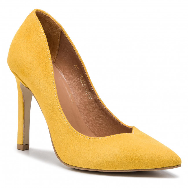 Stilettos R.POLAŃSKI - 1003 Żółty Zamsz