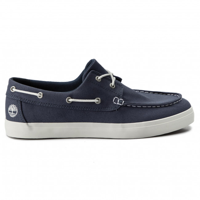 Sociología Festival Maligno  Moccasins TIMBERLAND - Union Wharf 2 Eye Boat Ox TB0A1XEU4321 Dark Blue  Canvas - Moccasins - Low shoes - Men's shoes | efootwear.eu