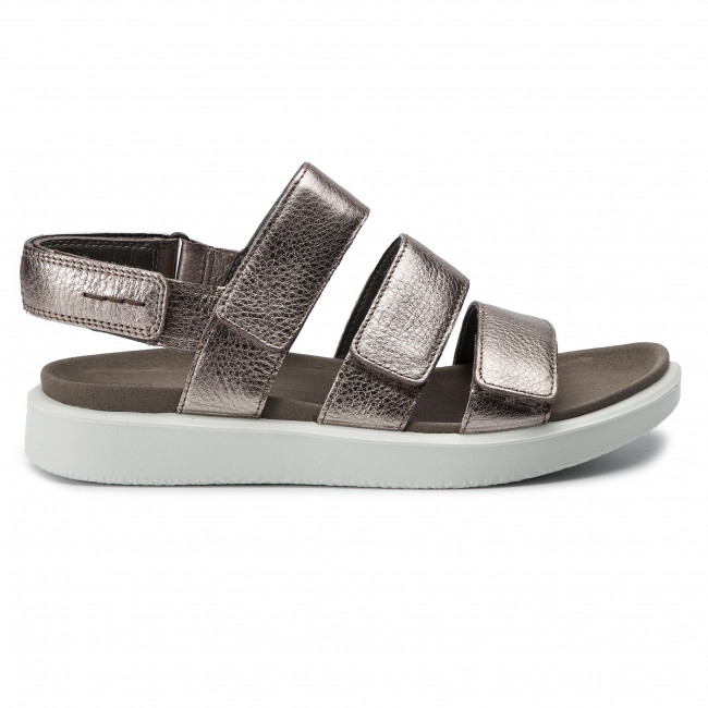Sandals ECCO Flowt W 27363354893 Warm Grey Metallic