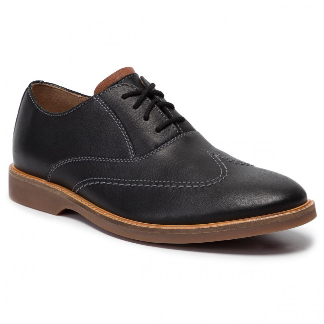 Shoes CLARKS Atticus Vibe 261444657 Black Leather