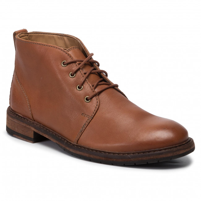 Boots CLARKS Clarkdale Base 261456387 Dark Tan Leather