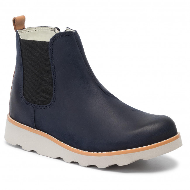 Boys Clarks Gusset Detailed Ankle Boots /'Crown Halo/'