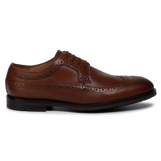 Shoes CLARKS Ronnie Limit 261438137 British Tan Leather