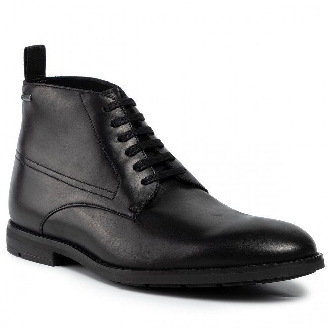 Boots CLARKS Ronnie Up Gtx GORE TEX 261452567 Black Leather
