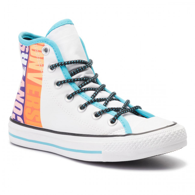Sneakers CONVERSE - Ctas Hi 164091C White/Gnarly Blue/White