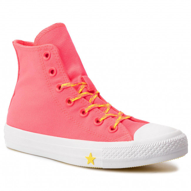 Sneakers CONVERSE Ctas Hi 564122C Racer PinkFresh YelowWhite