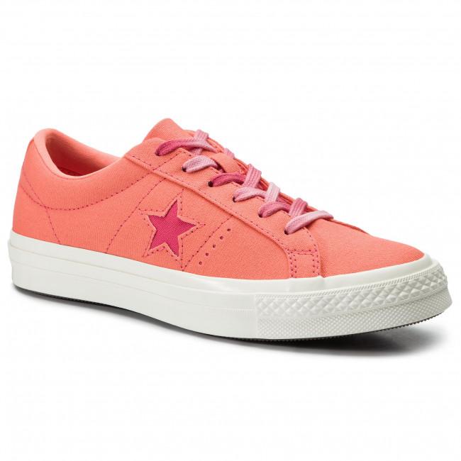 promo code footwear new images of Plimsolls CONVERSE - One Star Ox 564152C Turf Orange/Strawberry Jam