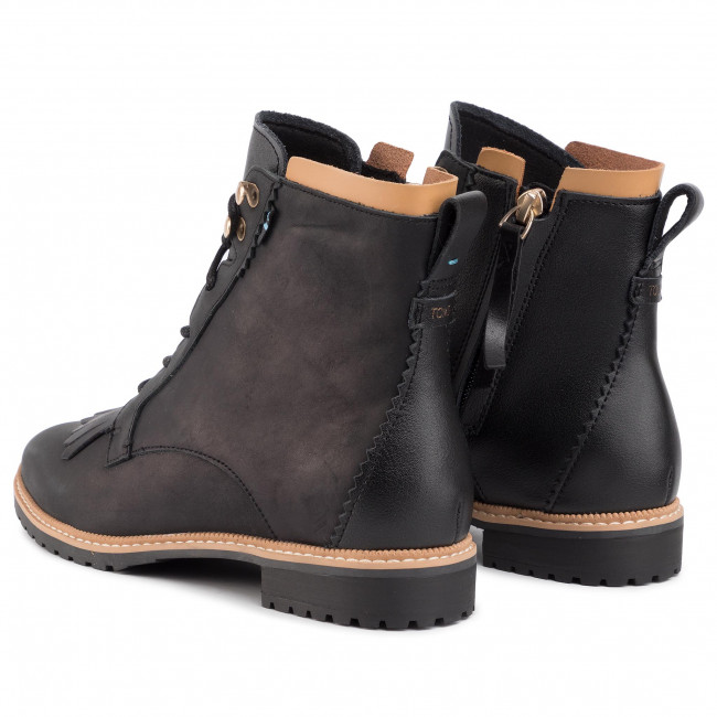 toms black leather boots