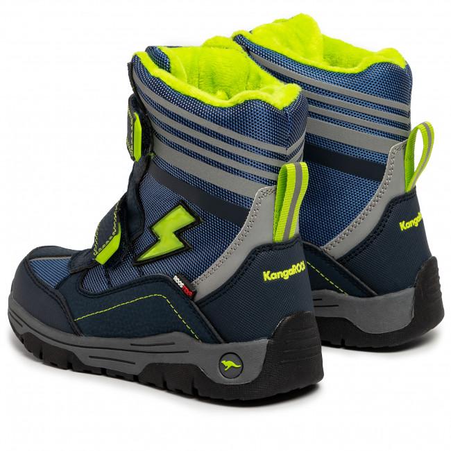 Snow Boots KANGAROOS Snow Flash Boys Sl Rtx 18387 000 4054 Dk NavyLime
