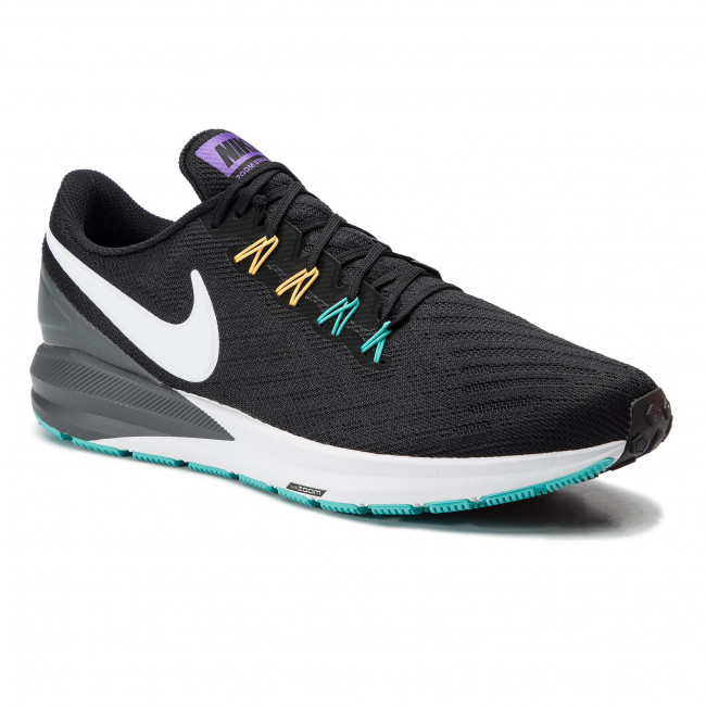 new arrival b401f e2f52 Shoes NIKE - Air Zoom Structure 22 AA1636 008 Black/White/Dark Grey