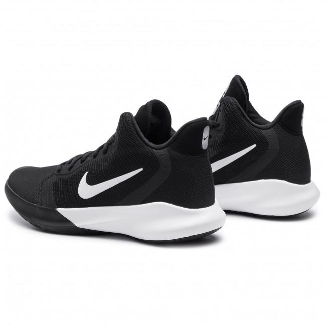Nike Men's Air Precision High Top Basketball Shoe (10), Wolf GreyBlack dark Grey