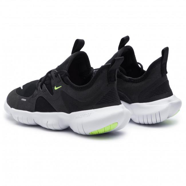 Shoes NIKE Free Rn 5.0 (GS) AR4143 001 BlackWhiteAnthraciteVolt