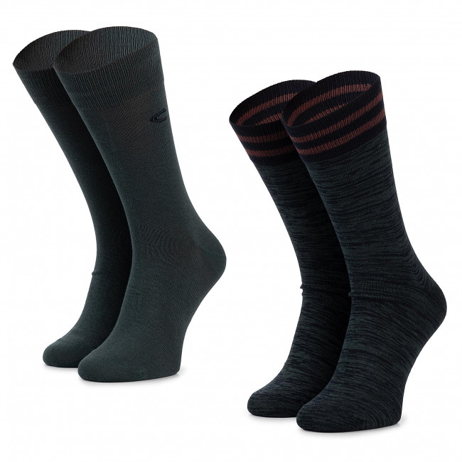 more photos nice cheap new arrive 2 Pairs of Men's High Socks CAMEL ACTIVE - 6410-203 Dark Petrol