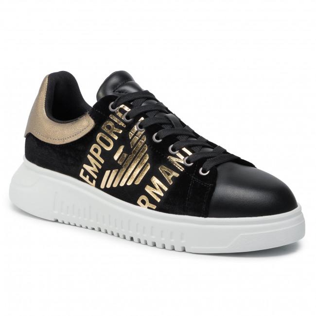 9d5f7bce Sneakers EMPORIO ARMANI - X4X264 XM042 R332 Black/Black/Lam.Gold