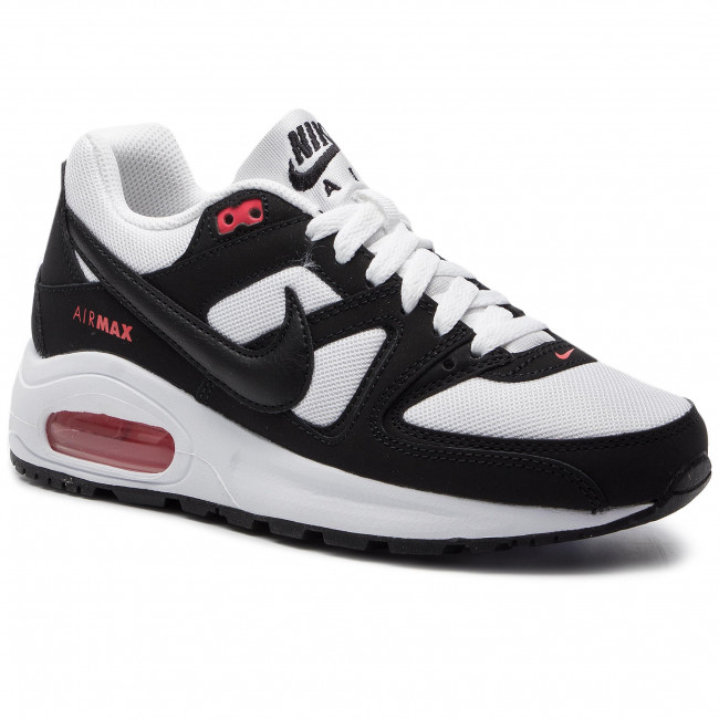 Shoes NIKE Air Max Command Flex (GS) 844346 100 WhiteBlackMax Orange