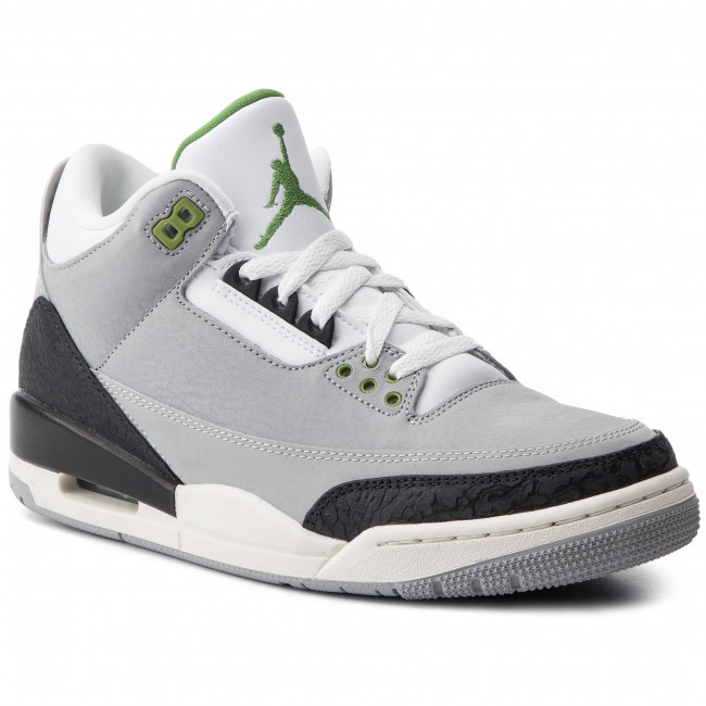info for fef28 fbb6b Shoes NIKE - Air Jordan 3 Retro 136064 006 Lt Smoke Grey/Chlorophyll